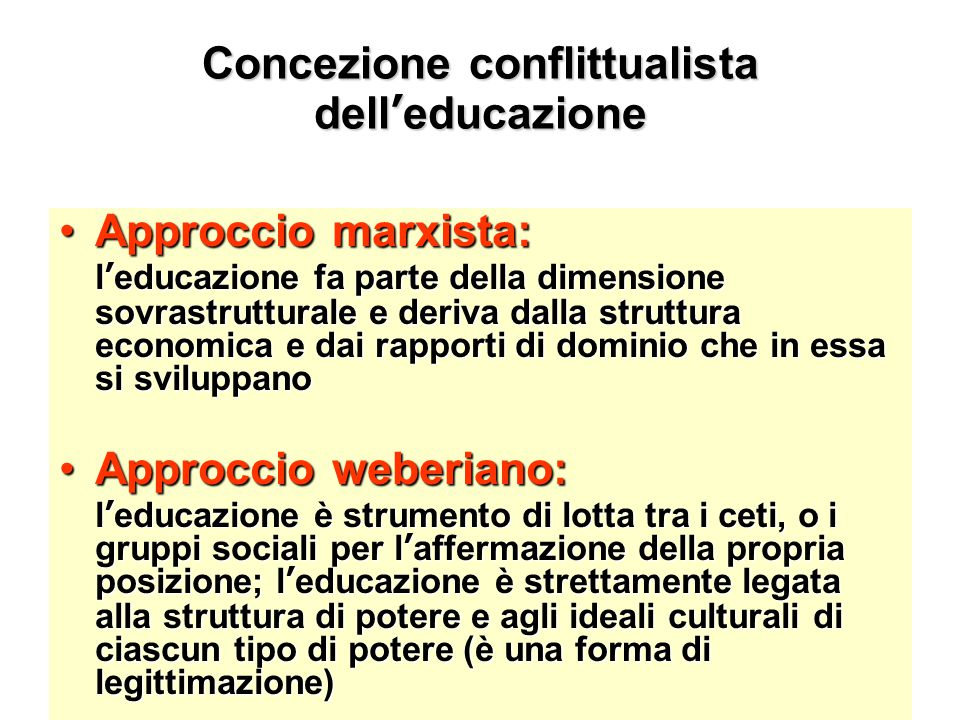 Concezione conflittualista dell'educazione
