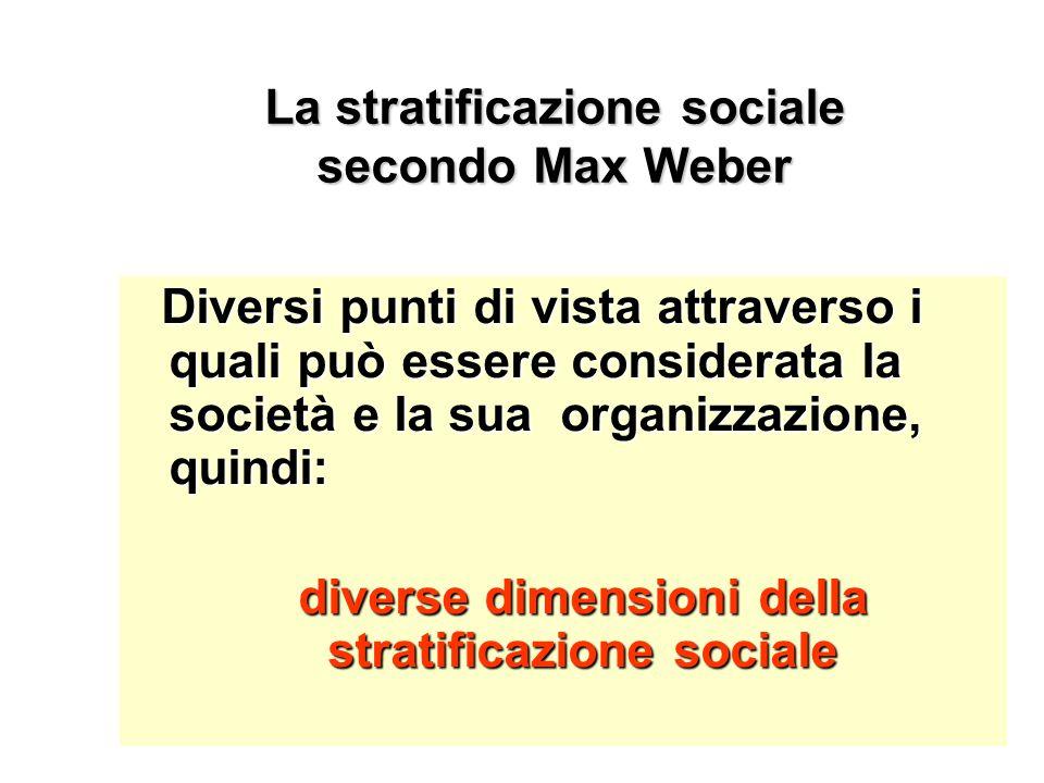 La stratificazione sociale secondo Max Weber