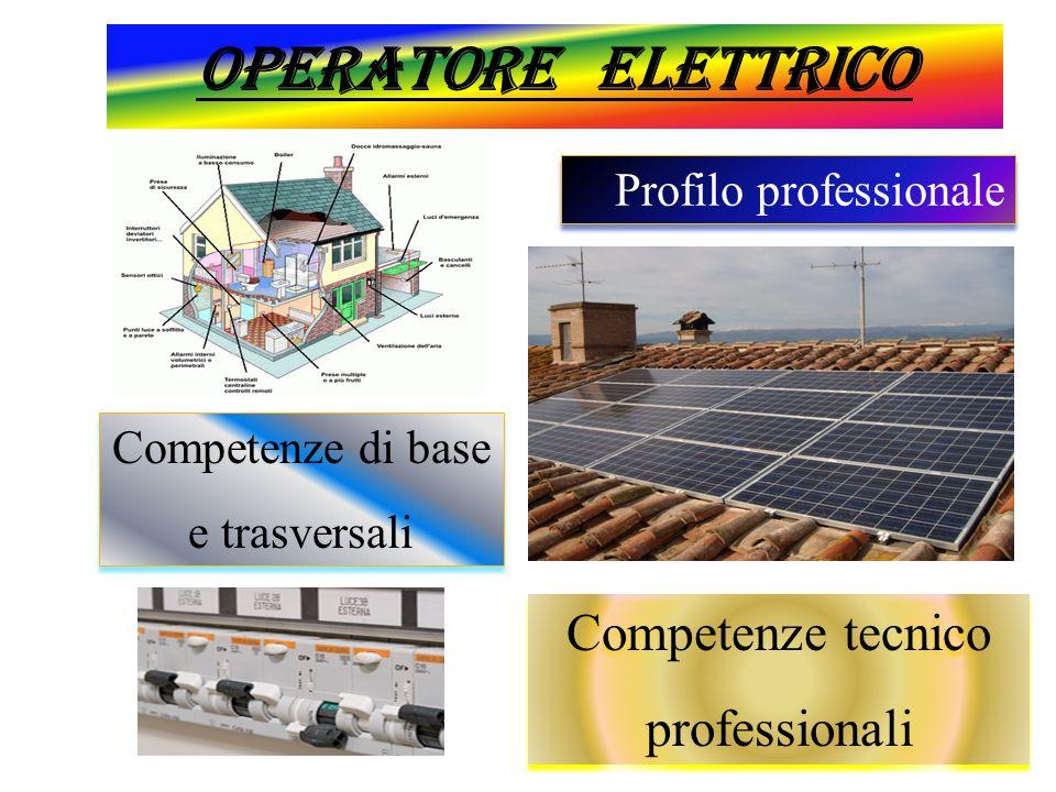 Operatore elettrico Competenze tecnico professionali