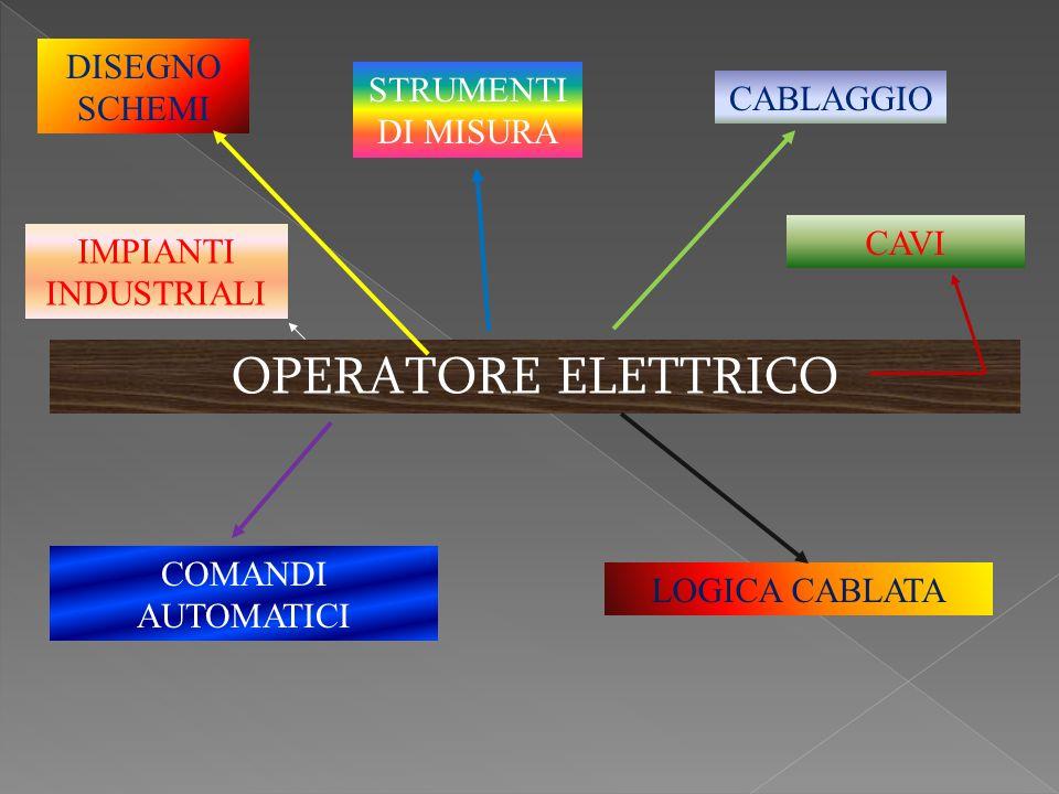 OPERATORE ELETTRICO DISEGNO SCHEMI STRUMENTI DI MISURA CABLAGGIO CAVI