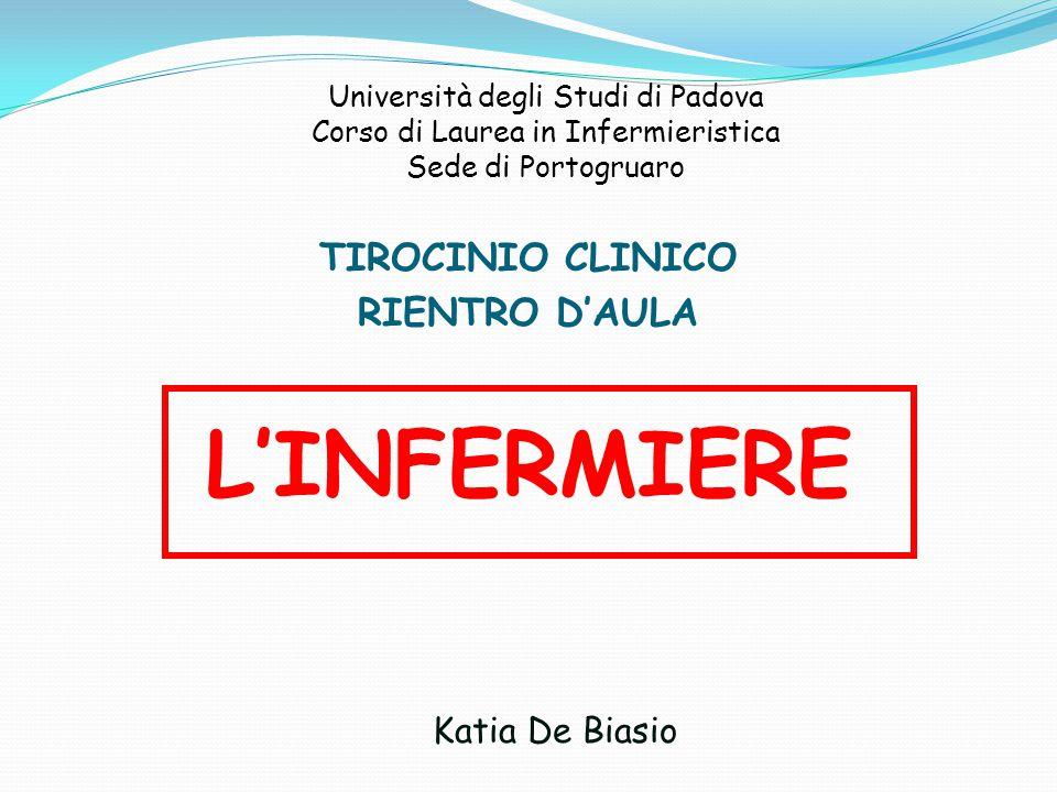 L'INFERMIERE TIROCINIO CLINICO RIENTRO D'AULA Katia De Biasio