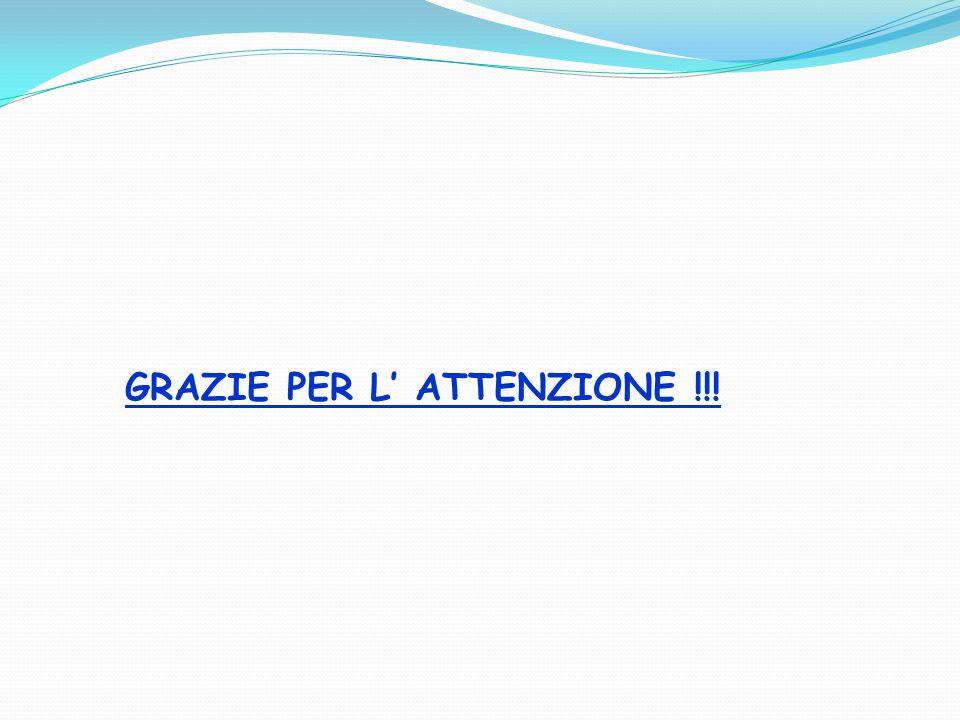 GRAZIE PER L' ATTENZIONE !!!