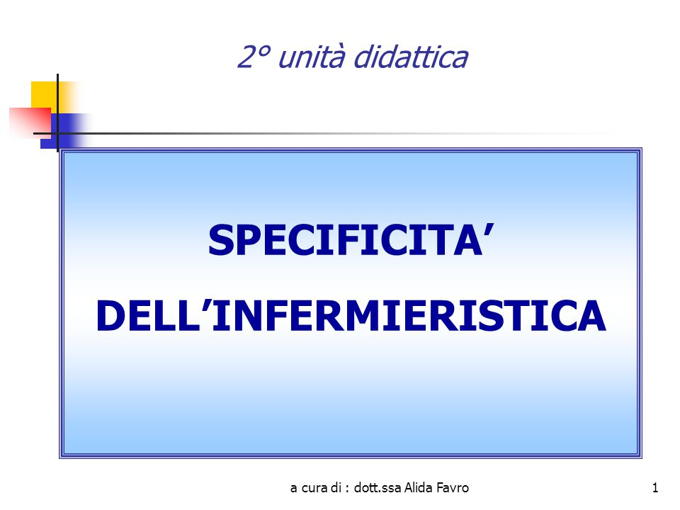 DELL'INFERMIERISTICA