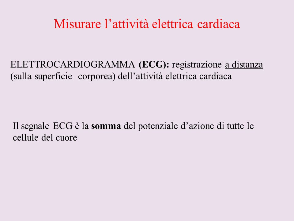 Misurare l'attività elettrica cardiaca