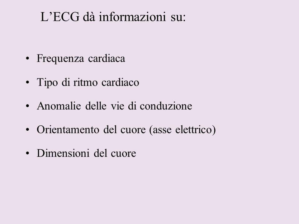 L'ECG dà informazioni su: