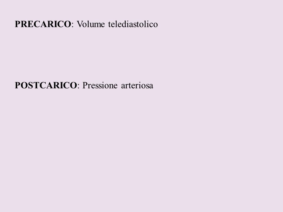 PRECARICO: Volume telediastolico