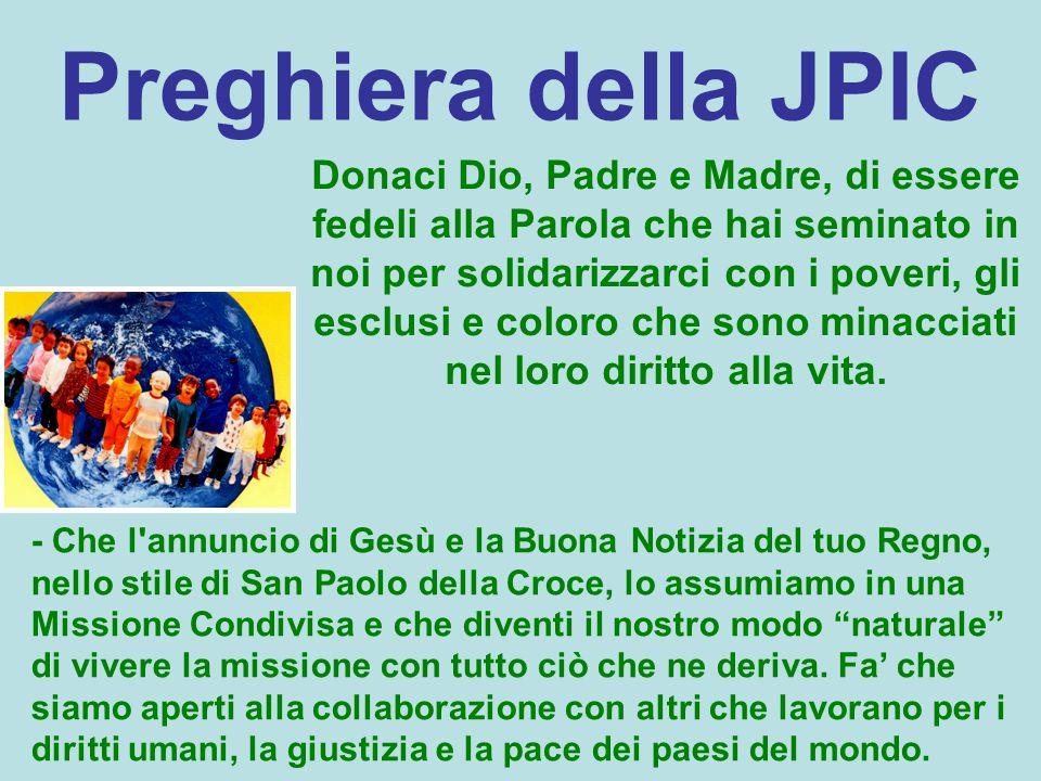 Preghiera della JPIC