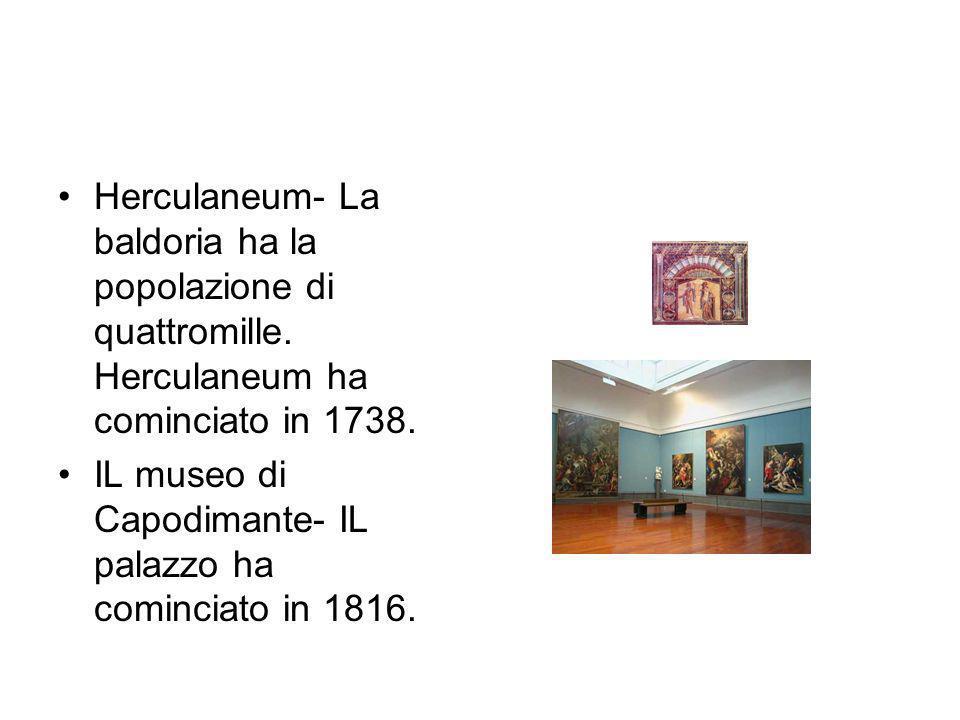 Herculaneum- La baldoria ha la popolazione di quattromille