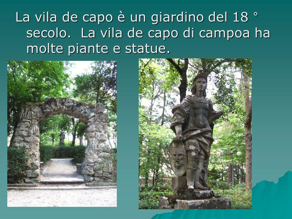 La vila de capo è un giardino del 18 ° secolo