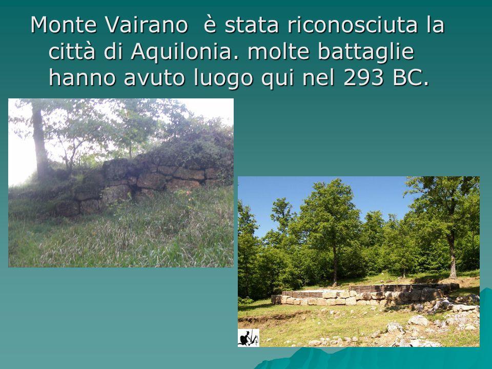 Monte Vairano è stata riconosciuta la città di Aquilonia