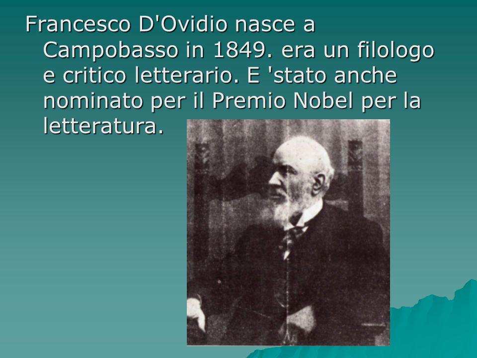 Francesco D Ovidio nasce a Campobasso in 1849