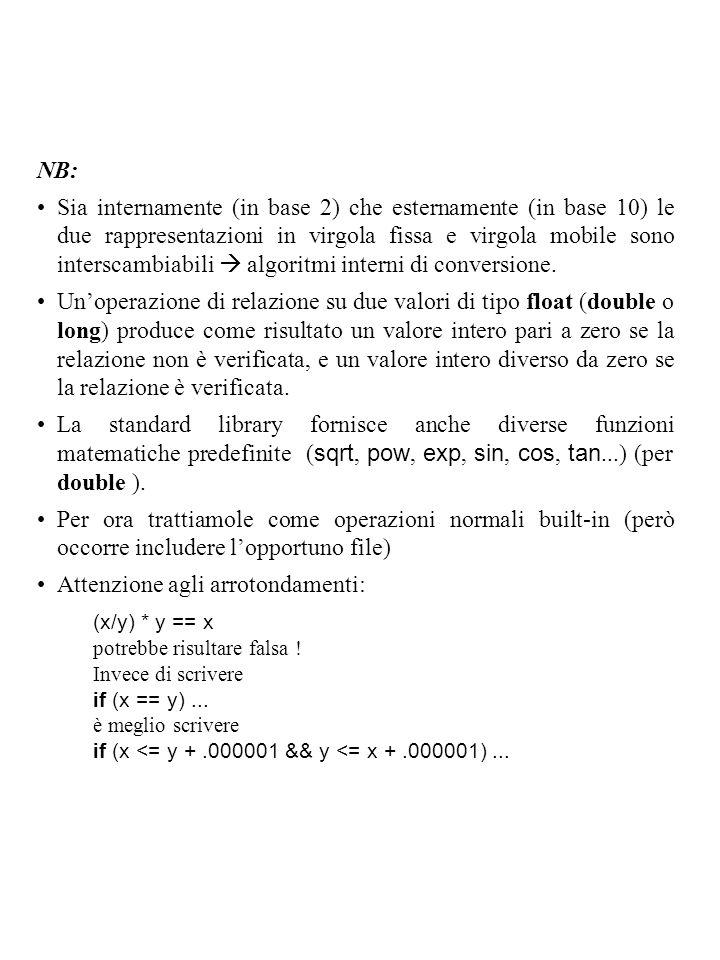 Attenzione agli arrotondamenti: (x/y) * y == x