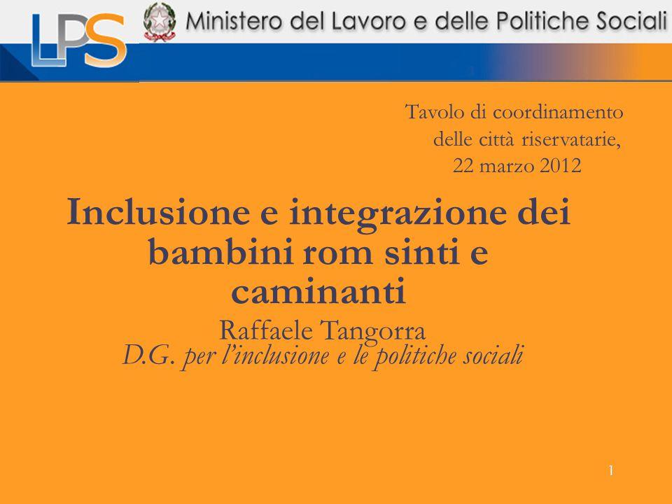 Inclusione e integrazione dei bambini rom sinti e caminanti