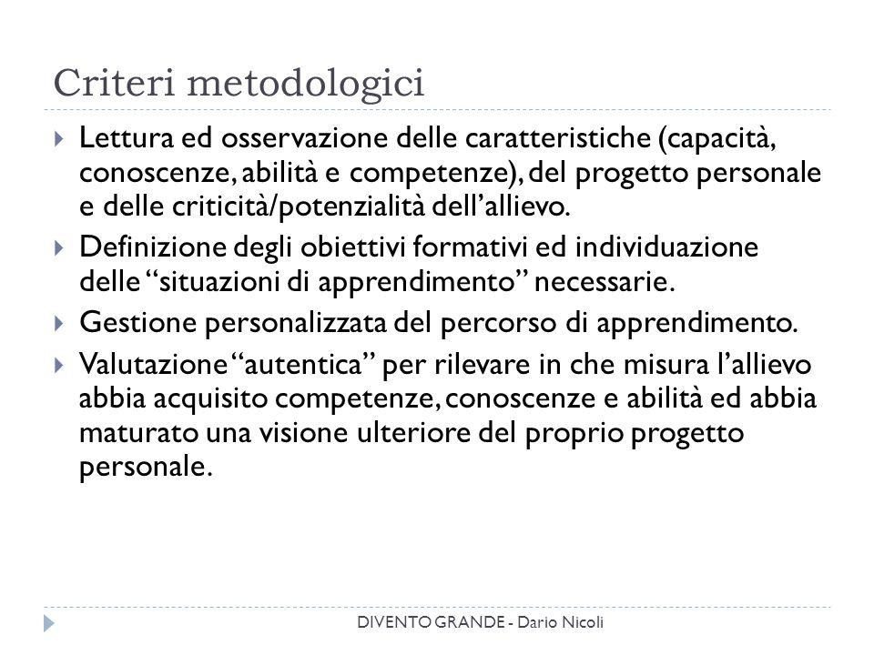 Criteri metodologici