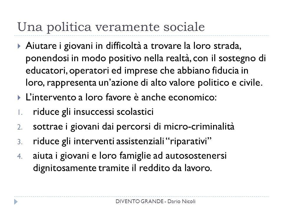 Una politica veramente sociale