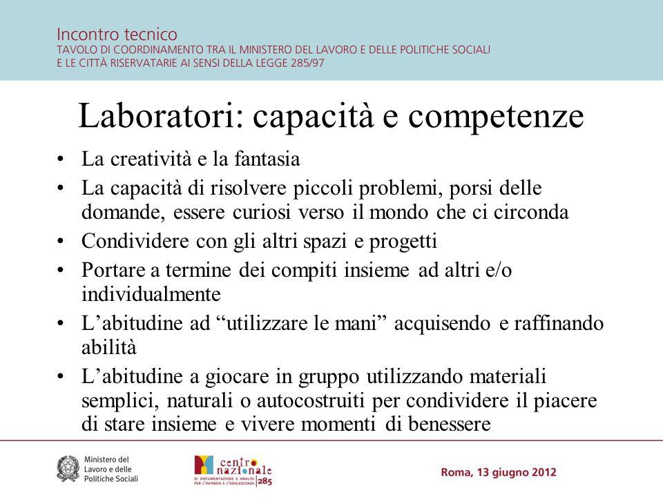 Laboratori: capacità e competenze