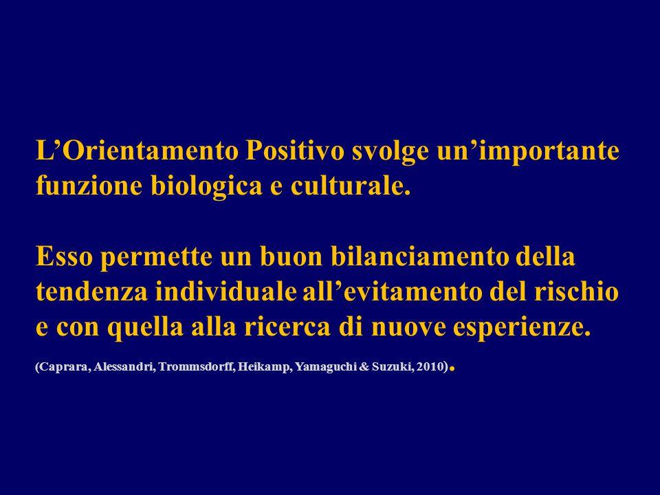 L'Orientamento Positivo svolge un'importante funzione biologica e culturale.