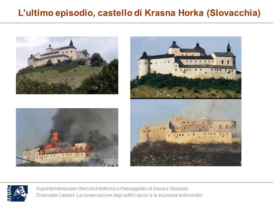 L'ultimo episodio, castello di Krasna Horka (Slovacchia)