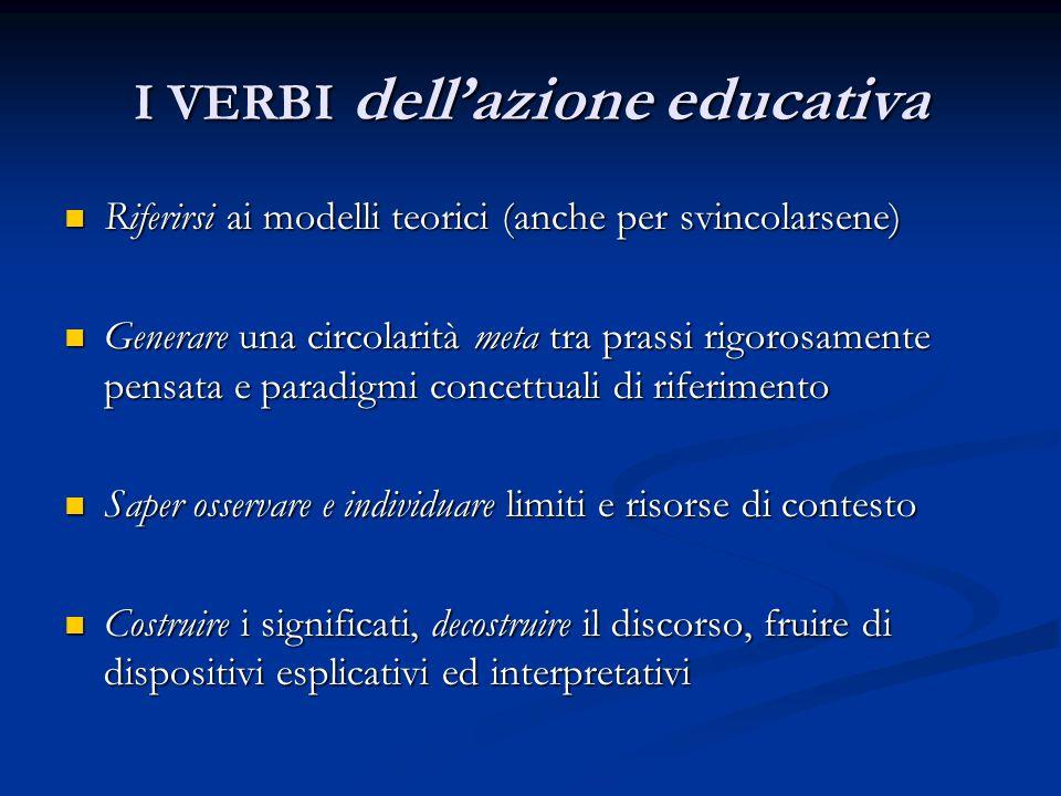 I VERBI dell'azione educativa