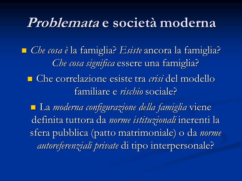 Problemata e società moderna
