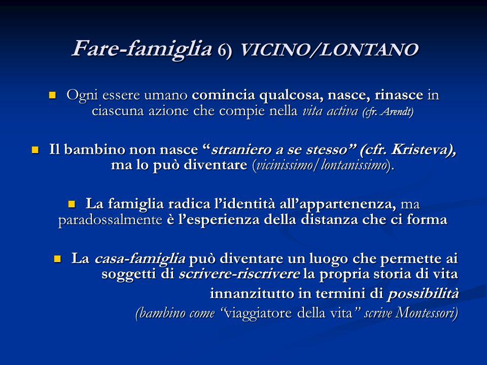 Fare-famiglia 6) VICINO/LONTANO