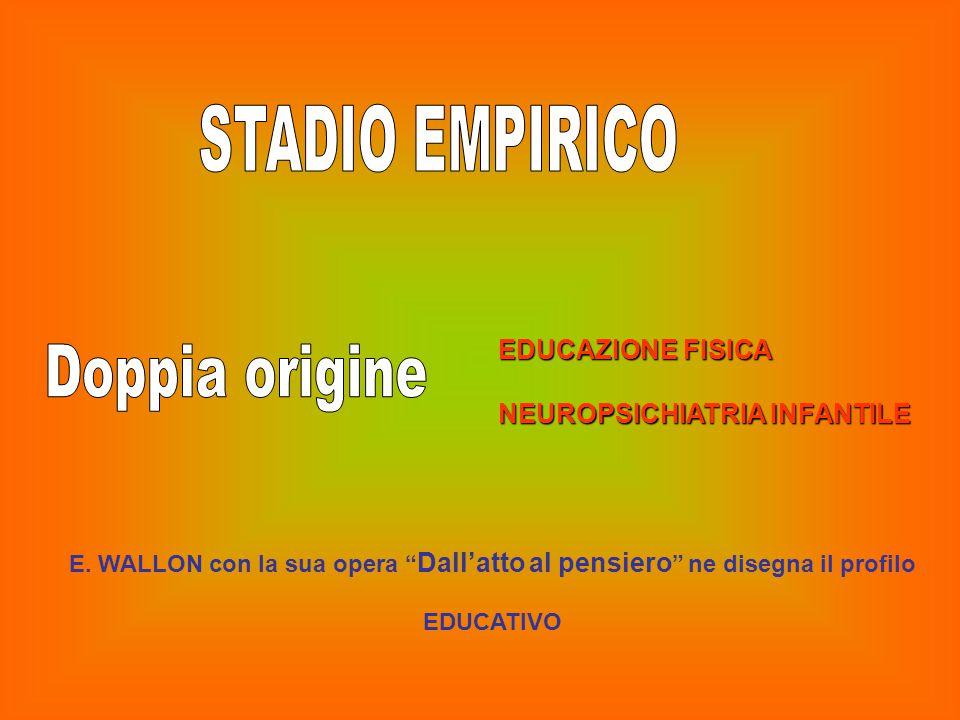 STADIO EMPIRICO Doppia origine EDUCAZIONE FISICA