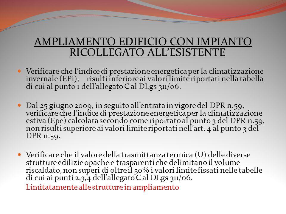 AMPLIAMENTO EDIFICIO CON IMPIANTO RICOLLEGATO ALL'ESISTENTE