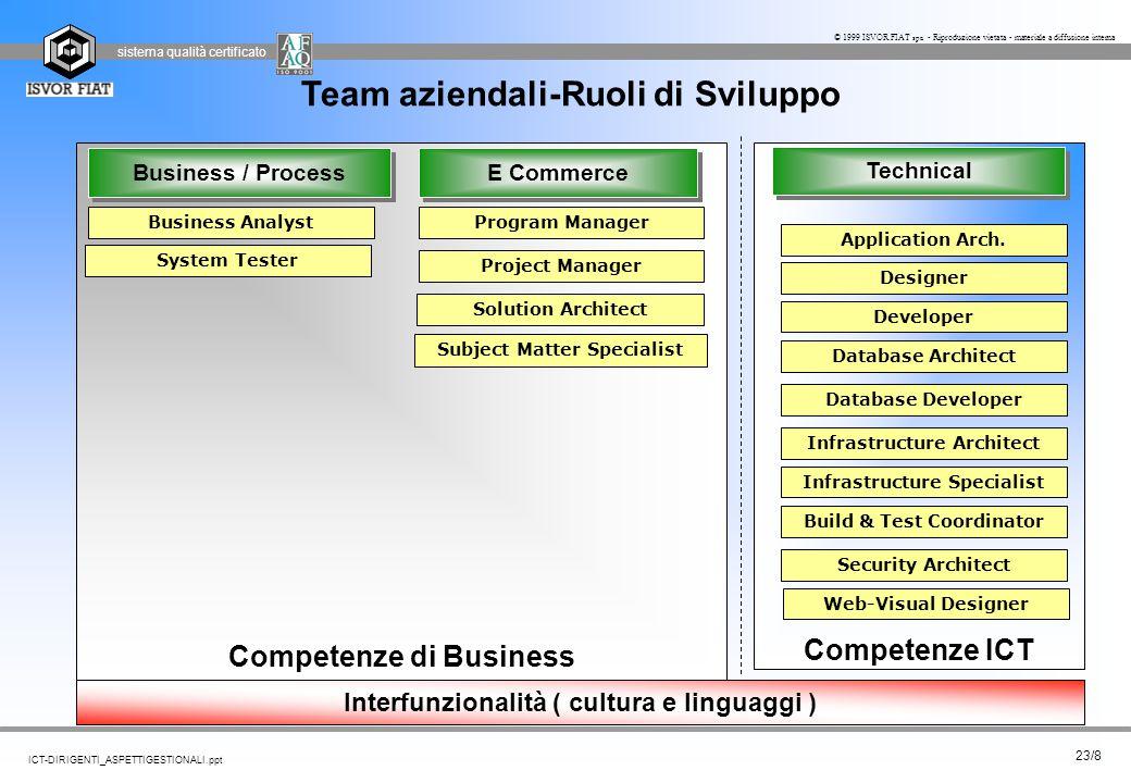 Team aziendali-Ruoli di Sviluppo