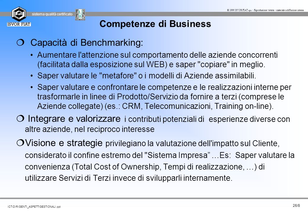 Competenze di Business