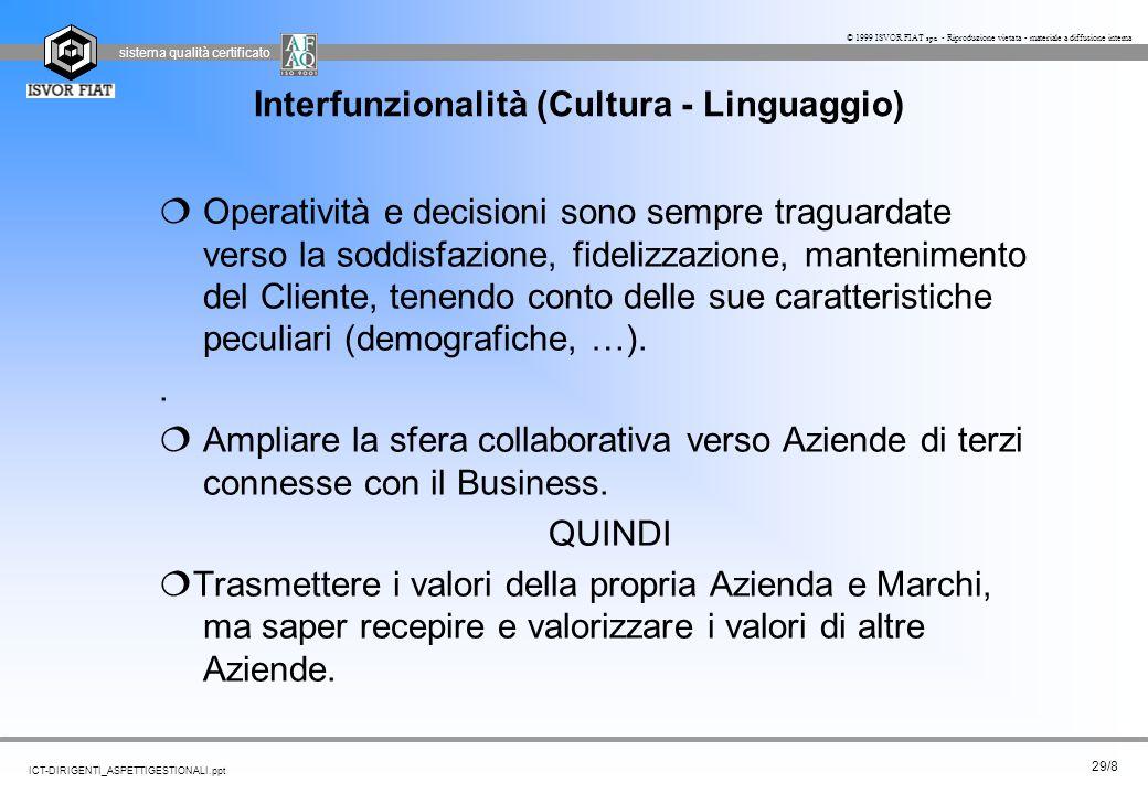 Interfunzionalità (Cultura - Linguaggio)