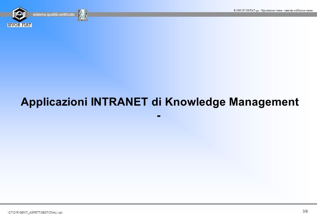 Applicazioni INTRANET di Knowledge Management -