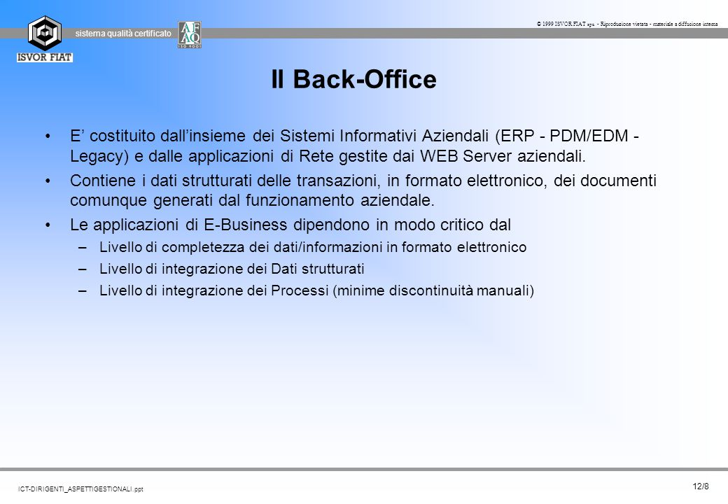 Il Back-Office
