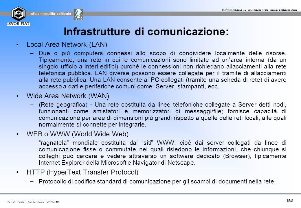 Infrastrutture di comunicazione: