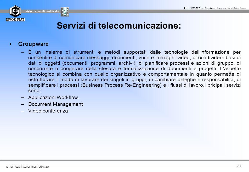 Servizi di telecomunicazione: