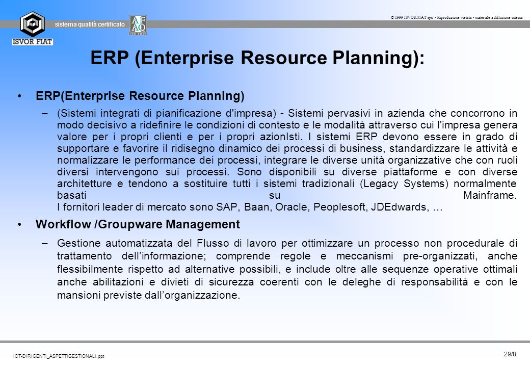ERP (Enterprise Resource Planning):