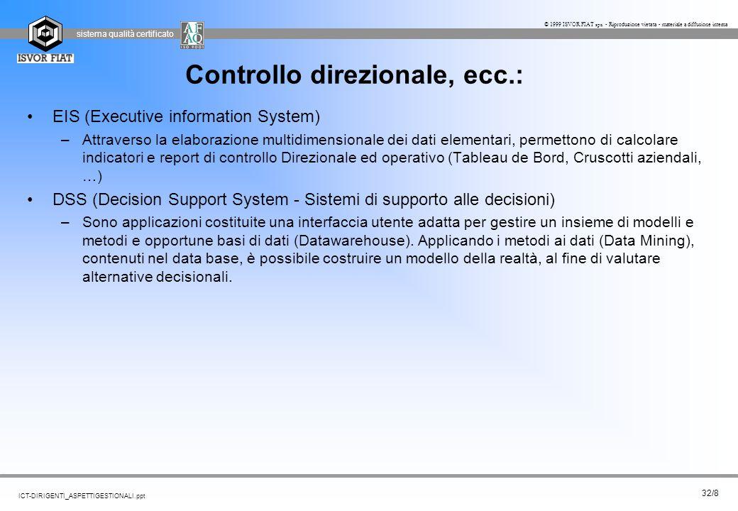 Controllo direzionale, ecc.: