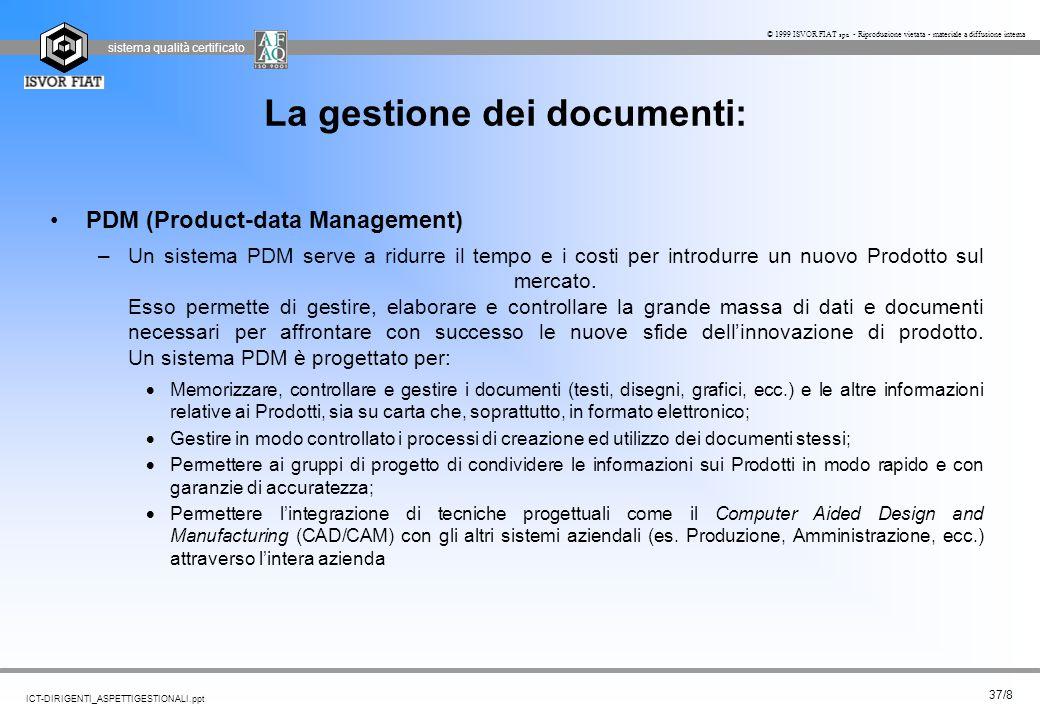 La gestione dei documenti: