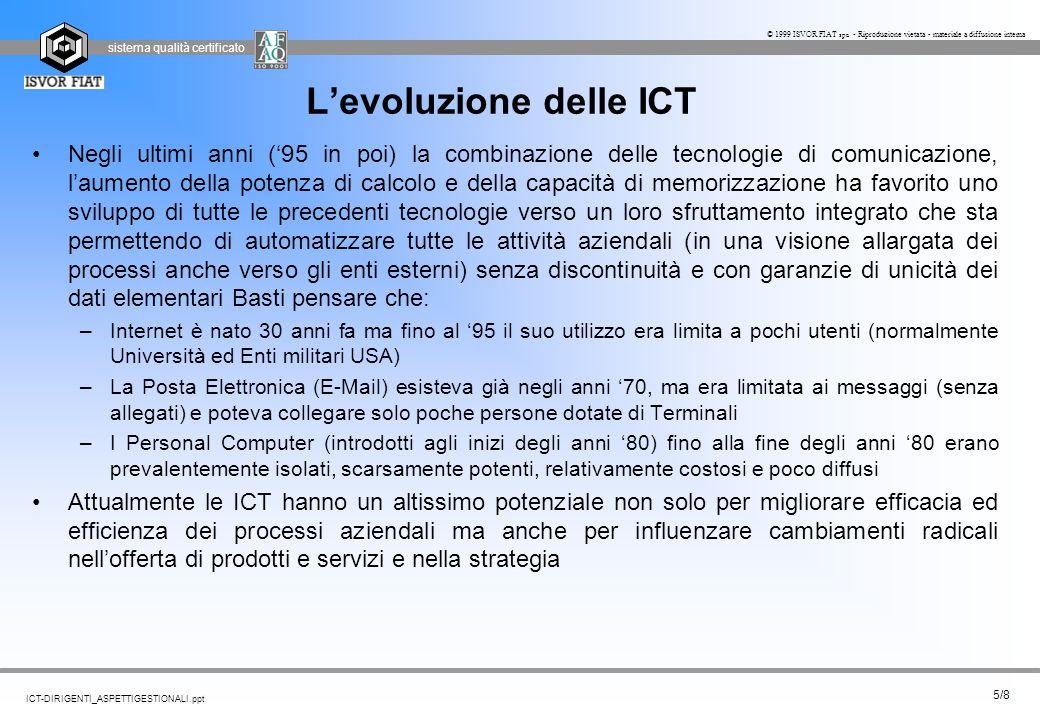 L'evoluzione delle ICT