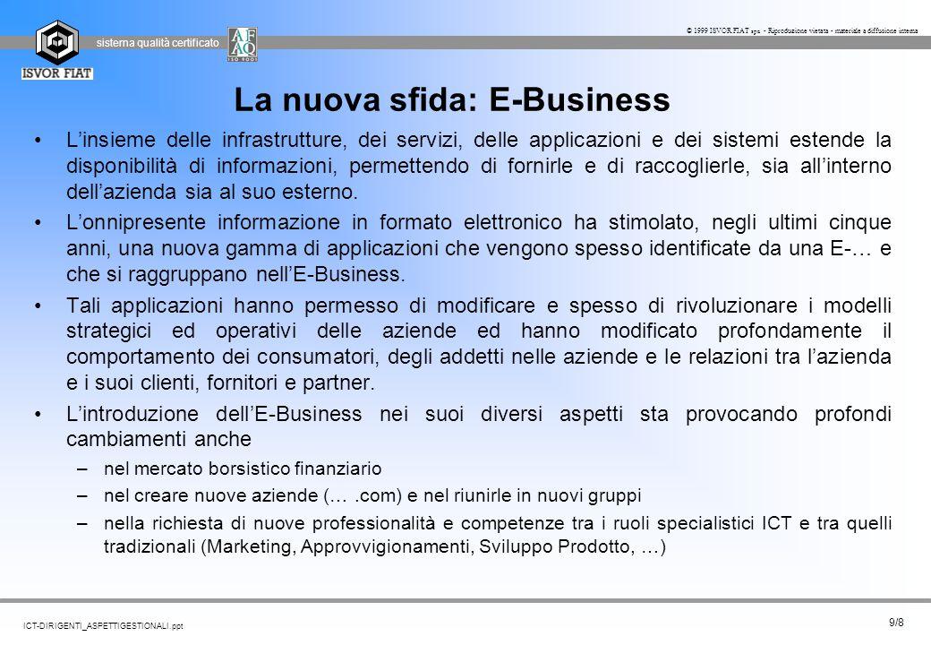 La nuova sfida: E-Business