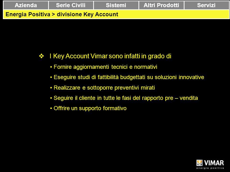 I Key Account Vimar sono infatti in grado di