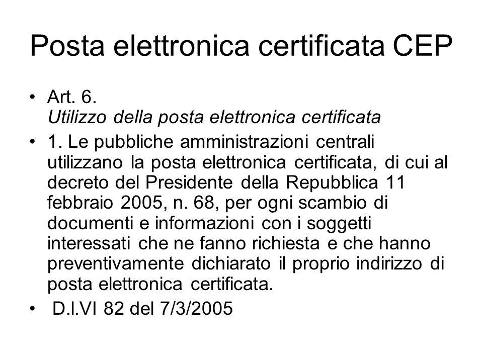 Posta elettronica certificata CEP