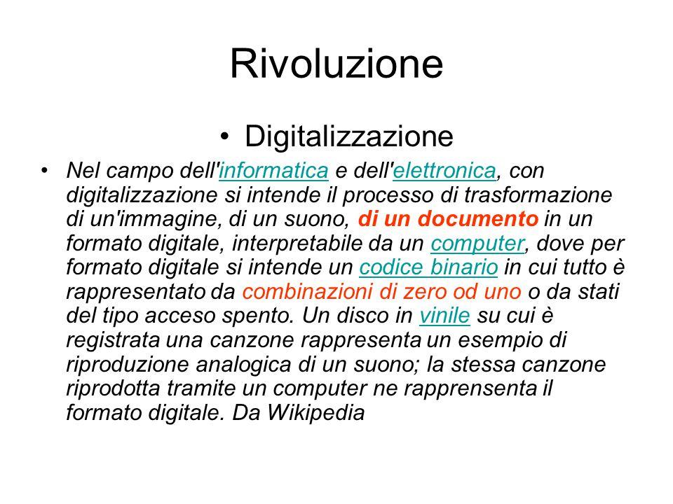 Rivoluzione Digitalizzazione