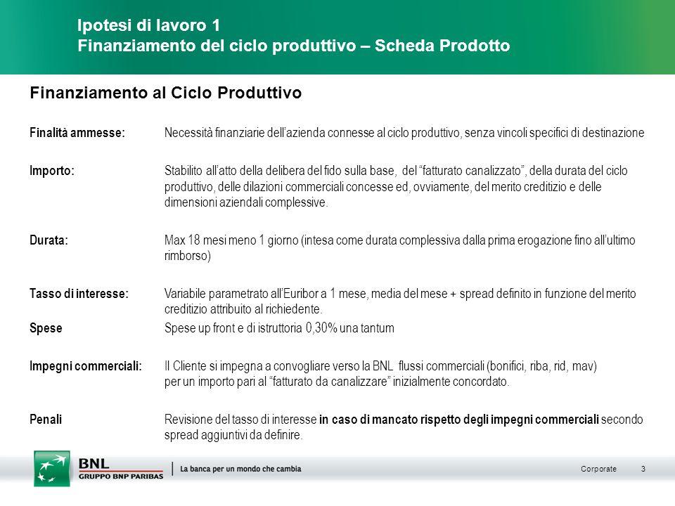 Finanziamento al Ciclo Produttivo