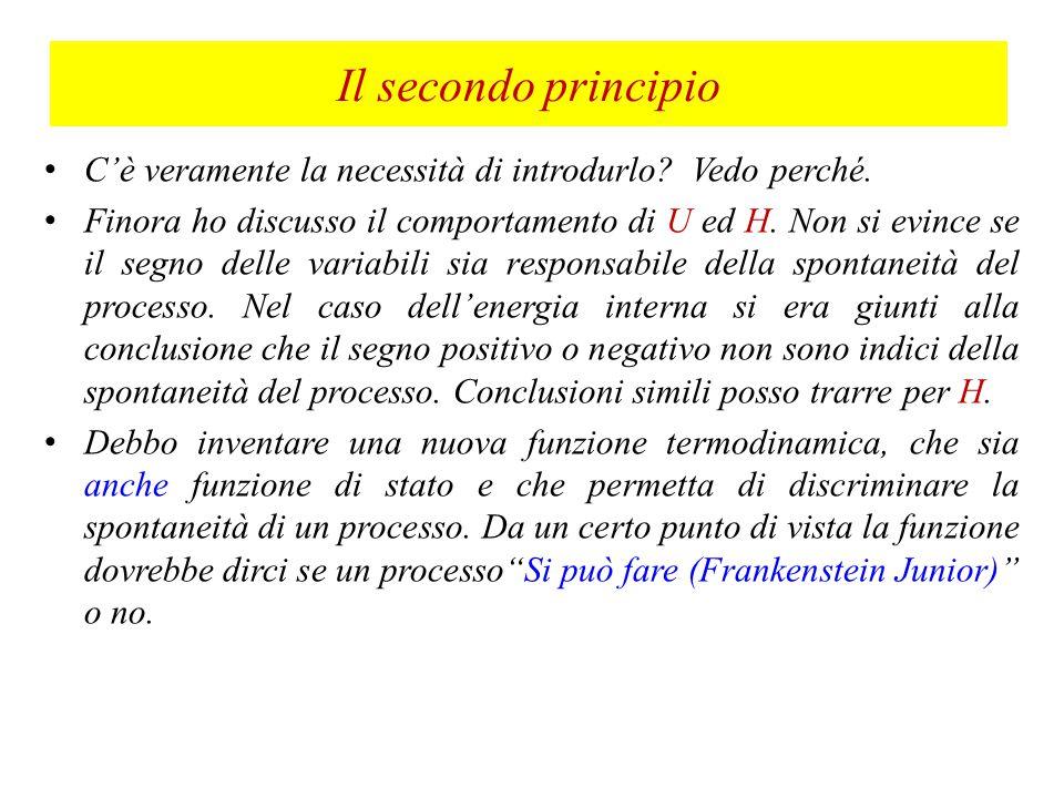 Il secondo principio C'è veramente la necessità di introdurlo Vedo perché.