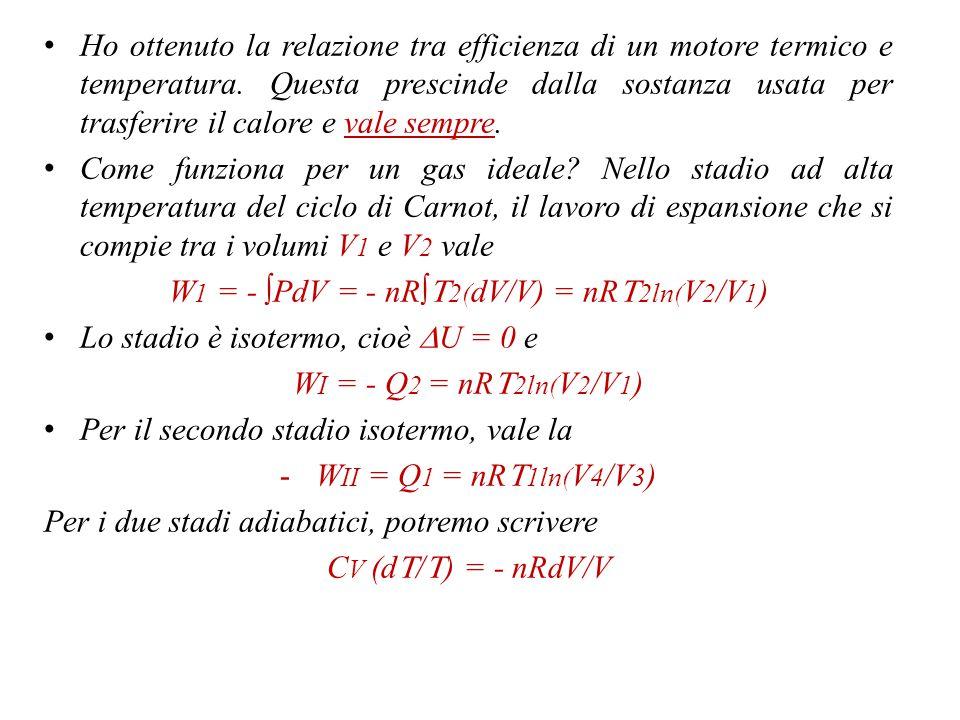 W1 = - ∫PdV = - nR∫T2(dV/V) = nRT2ln(V2/V1)