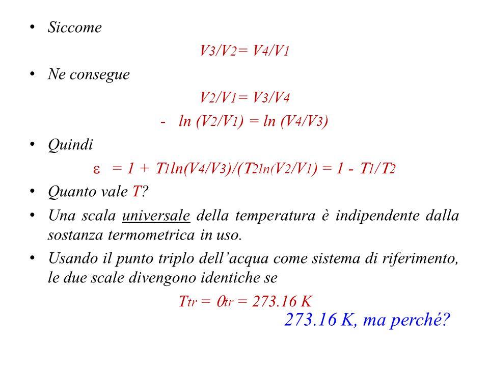 = 1 + T1ln(V4/V3)/(T2ln(V2/V1) = 1 - T1/T2