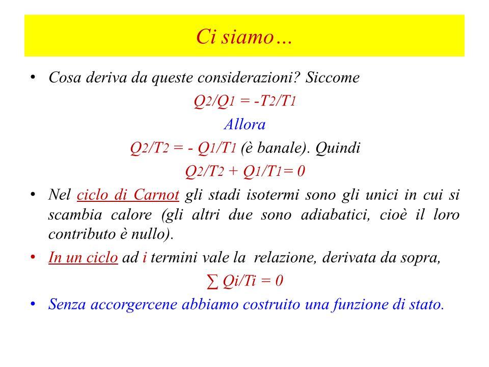Q2/T2 = - Q1/T1 (è banale). Quindi