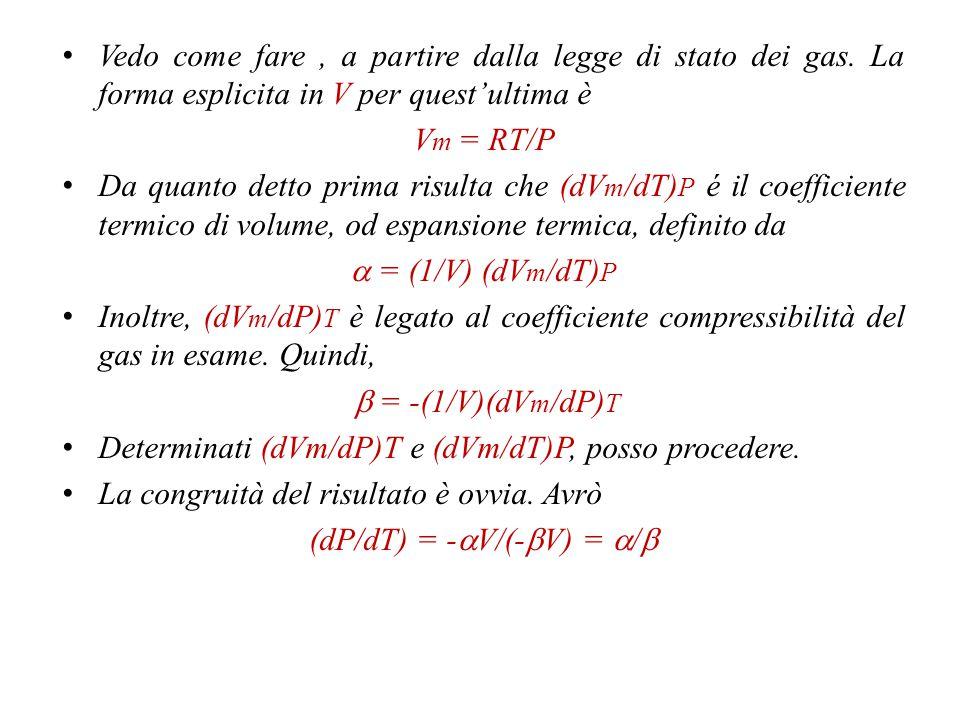 (dP/dT) = -aV/(-bV) = a/b