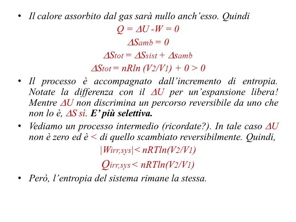 Qirr,sys < nRTln(V2/V1)