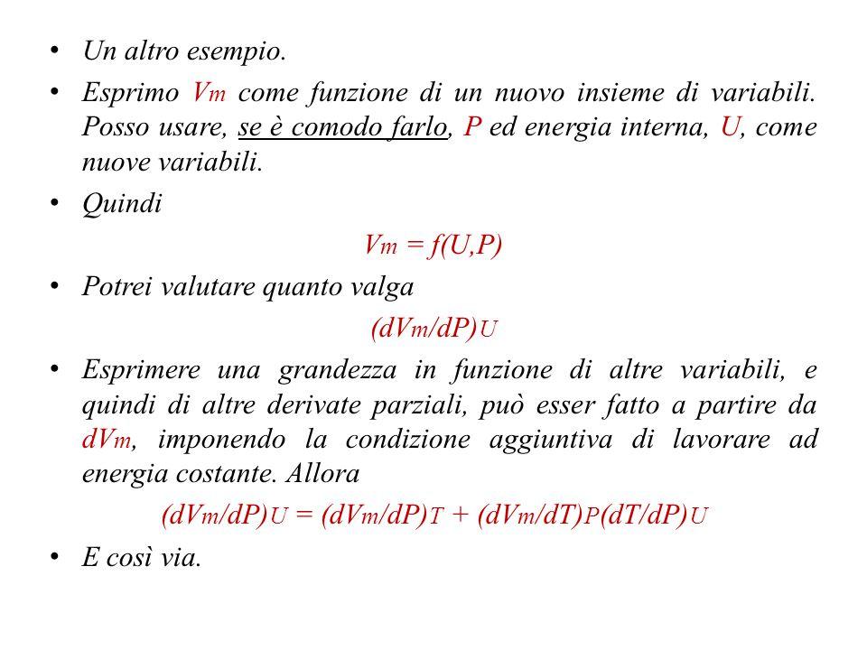 (dVm/dP)U = (dVm/dP)T + (dVm/dT)P(dT/dP)U